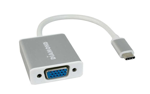 Diamond BVU31CV USB 3.1 Type-C to VGA 1080P Video Adapter with Display Port Alt Mode
