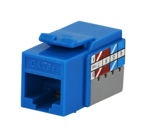 Commercial Electric 0.563-inch W x 0.625-inch H x 1.18-inch D Category 5e Jack - Blue