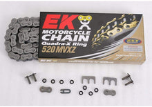 Load image into Gallery viewer, EK Motorcycle Offroad Chain Quadra-X Ring 520 MVXZ - Silver ($40 Incl Tax)