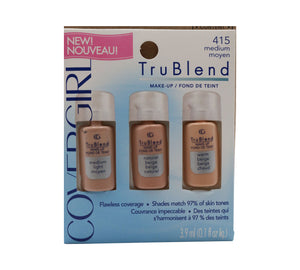 "CoverGirl Tru Blend ""Flawless Coverage"" Oil Free Cruelty Free Hypoallergenic Makeup *Made in USA*"