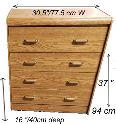 Used 4 Drawer Dresser - Solid Drawer Construction 30.5