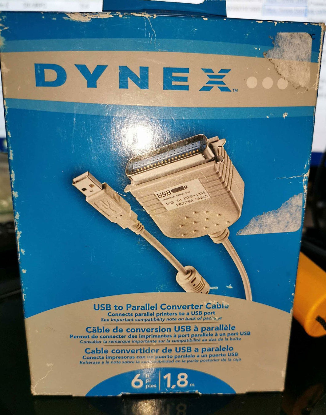 6' DYNEX USB to Parallel Converter Cable (DX-UBPC)