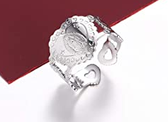 Faith Heart Men/Women's Ring