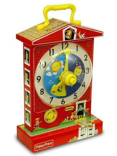 Fisher-Price Music Box Teaching Clock Age 12 months and Up