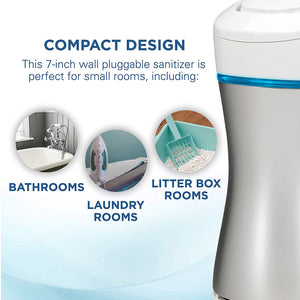 Germ Guardian GG1000 Pluggable Small Air Purifier, Small Rooms, Air Sanitizer, Freshens Air