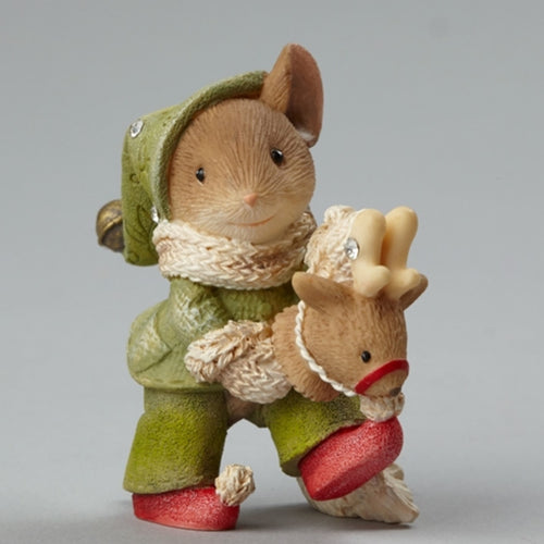 Mouse on Toy Reindeer Figurine ($10 Incl Tax)