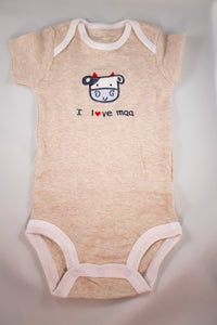 Baby Onesie - I Love Maa - 3 Month