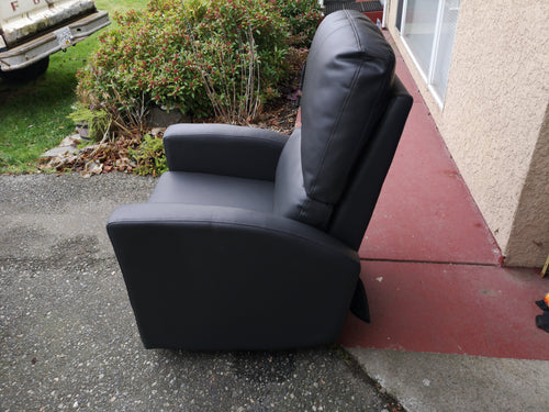 *NEW* KIDIWAY JAVA BLACK LEATHER BABY GLIDER/RECLINER