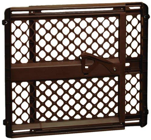 USED North State SuperGate Ergo Baby Gate - Brown -  Pressure Mount NO HARDWARE needed ($20 Incl Tax)