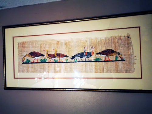 Geese on a Parchment, Framed 33
