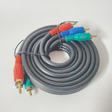 Load image into Gallery viewer, Component Video Cable for HDTV - 6 Feet - 3-RCA Male to RCA Male RGB