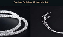 Load image into Gallery viewer, Kbear 8-Core Silver Plate Earphone Replacement Cable ($20 includes Tax)
