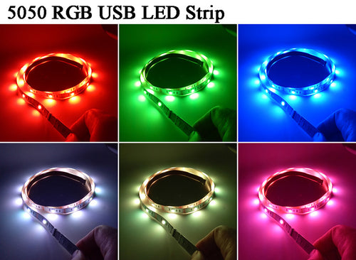 LED lights with 24 key Remote / USB cable 2M