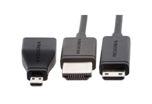 Insignia 6' Low-profile Mini/Micro HDMI Cable (NS-DG06501-C)