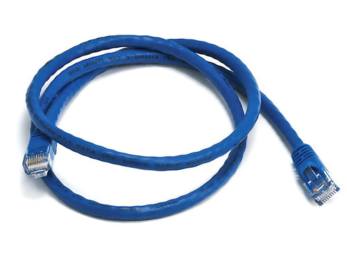 Monoprice Cat6 Ethernet Patch Cable - Snagless RJ45, Stranded, 550Mhz, UTP, Pure Bare Copper Wire, 24AWG, 3ft, Blue