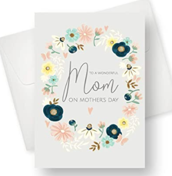 Mothers Day Card  With  Decorative Flowers