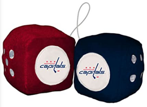 "NHL Washington Capitals 3"" Fuzzy Dice"