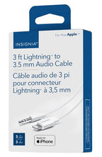 Load image into Gallery viewer, Insignia 0.9m (3 ft.) Lightning/3.5mm Stereo Cable - White (NS-MA35A83W-C) ($15 Incl Tax)