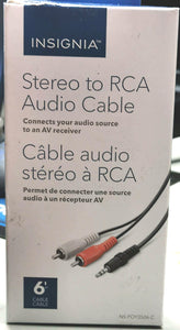 Insignia 6' Stereo To RCA Audio Cable (NS-POY3506-C)