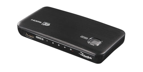 Rocketfish 4-Port HDMI Switch Box (RF-G1185-C) - Black