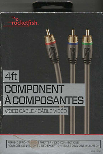 Rocketfish 4' Component Video Cable (RF-G1207-C)