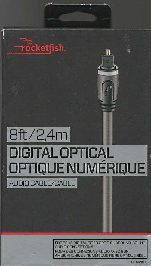 RocketFish 8' Digital Optical Audio Cable (RF-G1219-C)