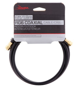 Rocketfish 1.83m (6 ft.) RG6 Coaxial Cable (RF-RG66BK-C)