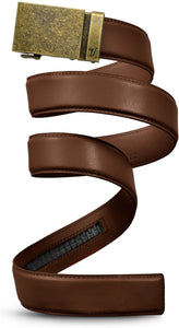 Mission Belt Men's Ratchet Belt Mocha Brown Leather Strap, Cut to Fit ($0 Incl Tax)