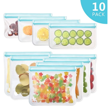 Reusable Sandwich & Snack Bags  10 Pack ($15 includes tax)
