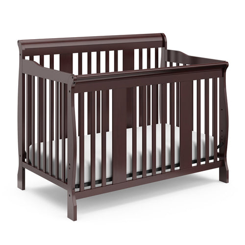 ($165) Storkcraft Tuscany 4-in-1 Convertible Crib (Gray, or Espresso Brown)
