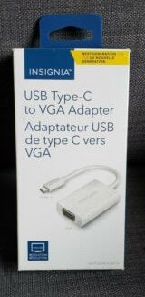 Insignia USB Type-C to VGA Adapter  (NS-PU36CV-WH-C) ($20 Incl Tax)