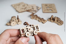 Load image into Gallery viewer, UGears NO GLUE REQUIRED U-Fidgets-Vehicles. Set of 4 models (Easy) UGR70033 ($10 Incl Tax)