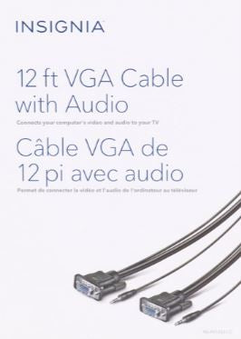 Insignia VGA Cable With Audio 12' (NS-PV12531-C)