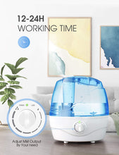 Load image into Gallery viewer, VicTsing Cool Mist Humidifier for Bedroom Unit with Whisper-Quiet Operation, Auto Shut-Off, 12-24 Hours Working Time (BPA-Free) ($35 Incl Tax)