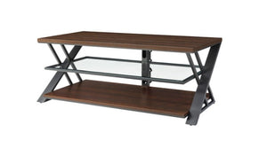 "Whalen Logan Holds 65"" TV - Bench / Console TV Stand - Warm Brown Cherry"
