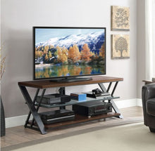 "Load image into Gallery viewer, Whalen Logan Holds 65"" TV - Bench / Console TV Stand - Warm Brown Cherry"