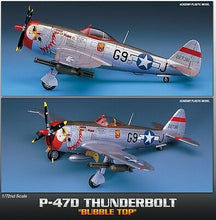 "Load image into Gallery viewer, Academy 1/72 Republic P-47D ""Bubble-Top"" Thunderbolt ACA12491 ($21 Incl Tax)"