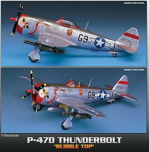 "Academy 1/72 Republic P-47D ""Bubble-Top"" Thunderbolt ACA12491 ($21 Incl Tax)"