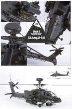 "Load image into Gallery viewer, Academy 1/72 U.S.Army Apache AH-64D Block II ""Late Version"" ACA12551 ($30 Incl Tax)"