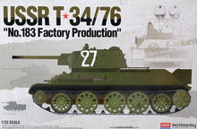 "Load image into Gallery viewer, Academy 1/35 USSR T-34/76 ""No.183 Factory Production"" ACA13505"