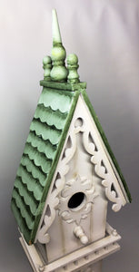 Mid Century Style Decorative Handcrafted Style Birdhouse