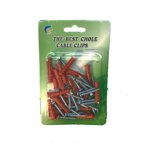 Chole Cable Clips Red 6mm 5pc Set