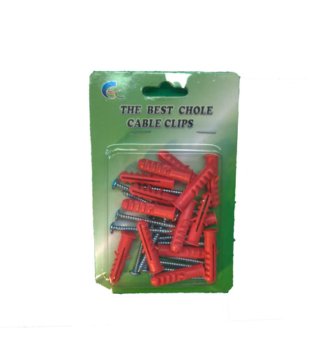 Chole Cable Clips Red 8 mm 5 Piece