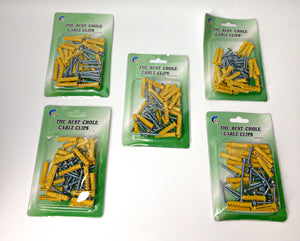 Chole Cable Clips Yellow 6mm 5 piece ($10 Incl Tax)
