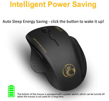 Load image into Gallery viewer, iMice G6 6 Button Ergonomic Wireless Optical Mouse with USB Receiver for Computer