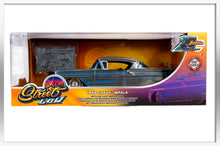 Load image into Gallery viewer, Rare: Jada 1/24 31082 20th Anniversary 1958 StreetLow Chevy Impala w/ Mosaic Tile, Blue Pinstriping