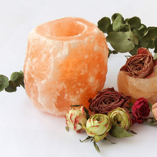 GENUINE Himalayan Salt Candle Holder
