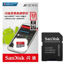 Load image into Gallery viewer, GENUINE SanDisk Ultra 32GB microSDHC UHS-I Card with Adapter, Grey/Red, Standard Packaging  <Import>