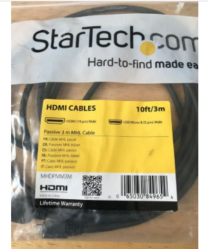 Star tech HDMI to Micro USB 10ft