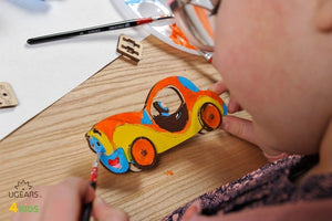 UGears  NO GLUE REQUIRED Car Model 3D-Puzzle Coloring Model - 8 pieces (Easy) UGR10003 ($5 Incl Tax)